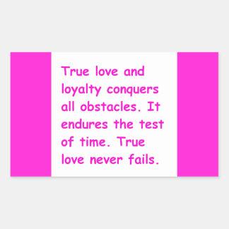 本当愛ロイヤリティはすべての障害立場のTHを征服します 長方形シール