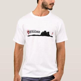 本拠地のクルセーダー-ロゴ-白 Tシャツ
