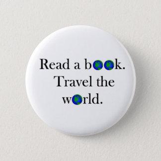 本旅行に世界を読んで下さい 5.7CM 丸型バッジ
