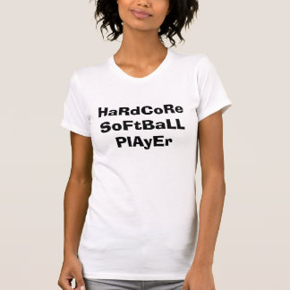 本格的なソフトボールプレーヤー Tシャツ