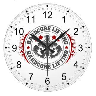 本格的な持ち上がる曲るボディービルダー ラージ壁時計