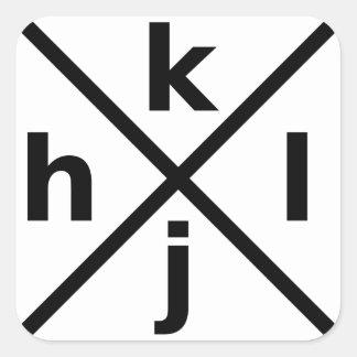 本格的なVi/Vimのハッカーのためのhjkl -正方形のステッカー スクエアシール