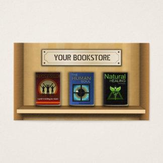 本棚の本屋の書店の名刺 名刺