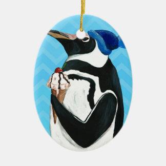 本物のペンギン セラミックオーナメント