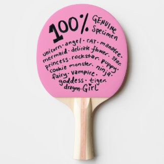 本物の標本の女の子の卓球ラケット 卓球ラケット