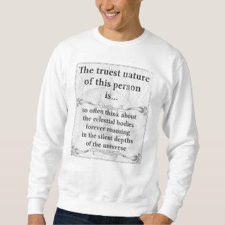 本質: 天体によっては宇宙が歩き回ります スウェットシャツ