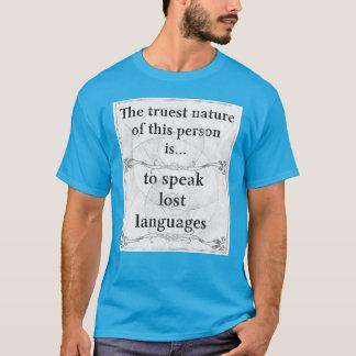 本質: 無くなった言語を話して下さい Tシャツ