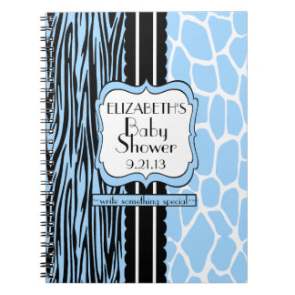 本青いベビーシャワーのゲスト ノートブック