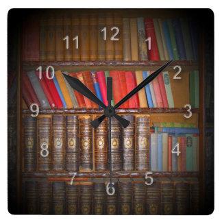 本 スクエア壁時計