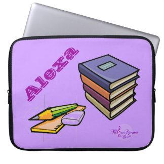 本、鉛筆及び定規のカスタマイズ可能なラップトップスリーブ ラップトップスリーブ