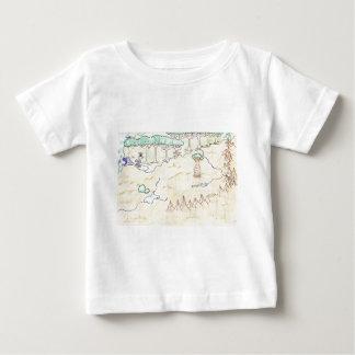 本Iの地図 ベビーTシャツ