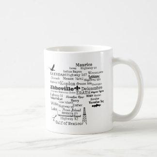 朱色教区のルイジアナの都市及び通りのマグ コーヒーマグカップ