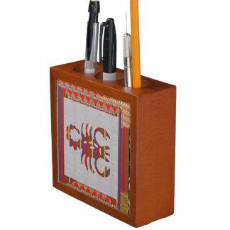 机のオルガナイザー: 装飾的な芸術の蠍座の(占星術の)十二宮図 ペンスタンド