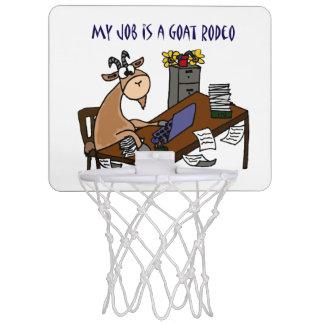 机のヤギのロデオの仕事のユーモアのおもしろいなヤギ ミニバスケットボールゴール
