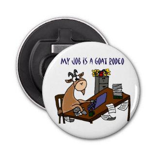 机のヤギのロデオの仕事のユーモアのおもしろいなヤギ 栓抜き
