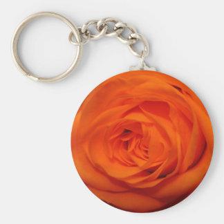 杏子かオレンジ色のバラ キーホルダー