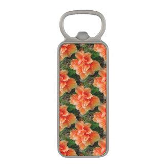 杏子のハイビスカスの熱帯花 マグネット栓抜き