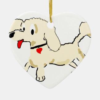杏子のプードルの子犬 セラミックオーナメント
