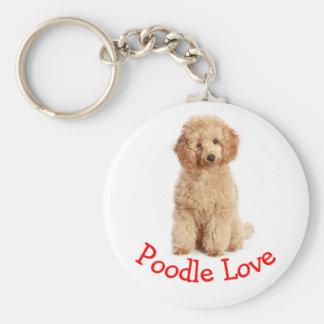 杏子のプードルの小犬愛Keychain キーホルダー