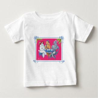 杏子の白人および銀製のプードルのパーティー ベビーTシャツ