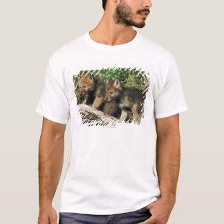 材木のオオカミ幼いこども Tシャツ