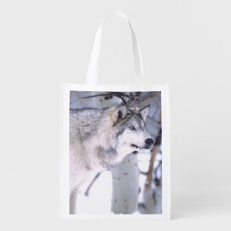 材木のオオカミ、イヌ属ループス、映画動物のユタ) エコバッグ