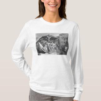 材木のヤード、Finsbury 1825年 Tシャツ