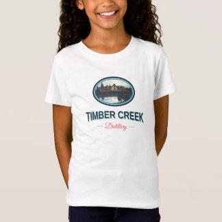 材木の入り江の蒸留酒製造所の女の子はワイシャツに合いました Tシャツ