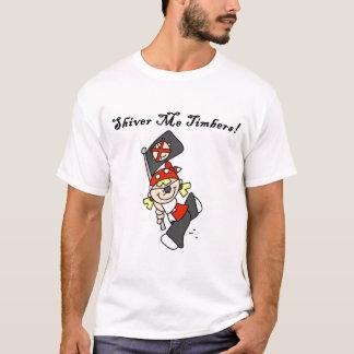 材木のTシャツおよびギフト私は震えます Tシャツ