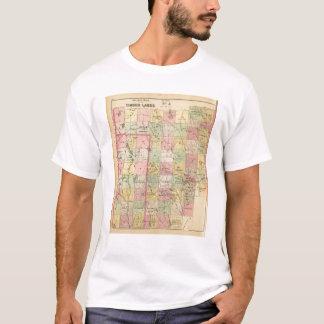 材木は4冊の地図書の地図を上陸させます Tシャツ