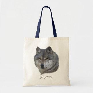 材木オオカミの野性生物のトートバック トートバッグ