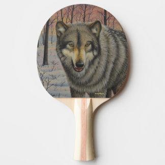 材木オオカミ 卓球ラケット