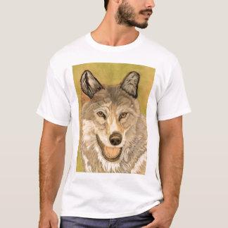 材木オオカミ Tシャツ