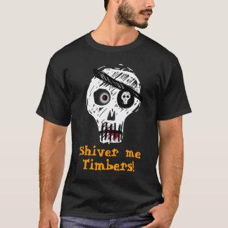 材木私は震えます! Tシャツ