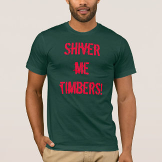 材木私は震えます Tシャツ