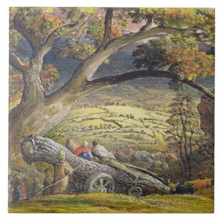 材木Wain、c.1833-34 (w/c及び紙のグワッシュ タイル