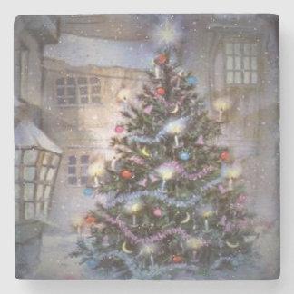 村のクリスマス ストーンコースター