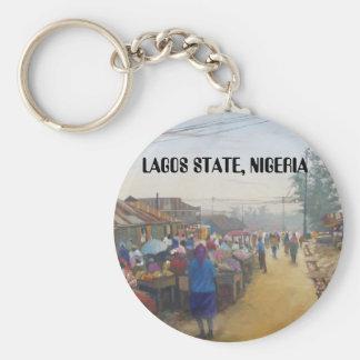 村の人々、ラゴスの国家、ナイジェリア キーホルダー