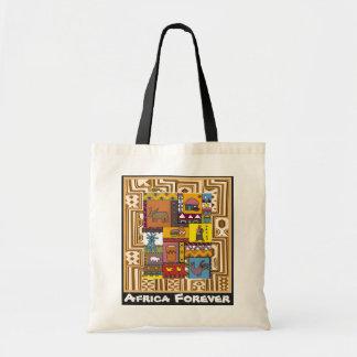 村の人生のAftricanの芸術 トートバッグ