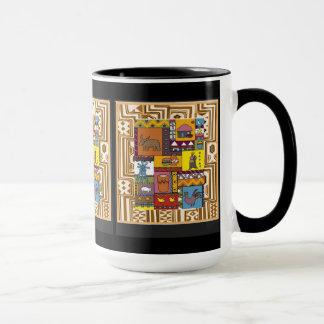 村の人生のAftricanの芸術 マグカップ