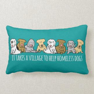 村の助けのホームレスに犬を取ります ランバークッション