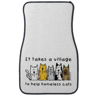 村の助けのホームレスに猫を取ります カーマット