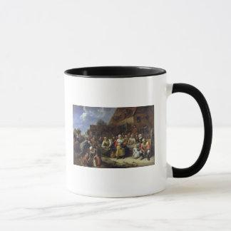 村の宴会 マグカップ