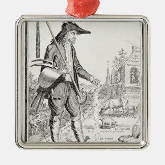 村の小作人は苦しむために、c.1780生まれます メタルオーナメント