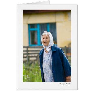 村の祖母 グリーティングカード