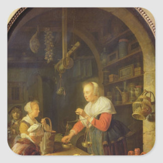 村の食料商人1647年 スクエアシール