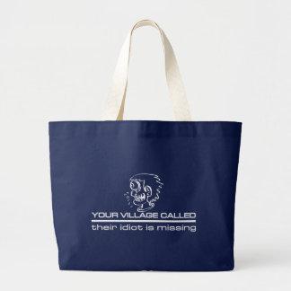 村の馬鹿のバッグ-スタイル及び色を選んで下さい ラージトートバッグ