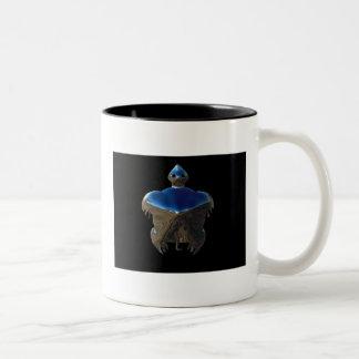 村落のカメ ツートーンマグカップ
