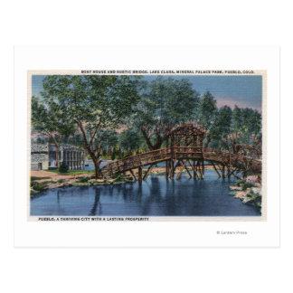 村落、コロラド州-ボートハウス及び素朴 ポストカード
