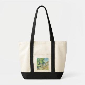 村(紙でパステル調) トートバッグ